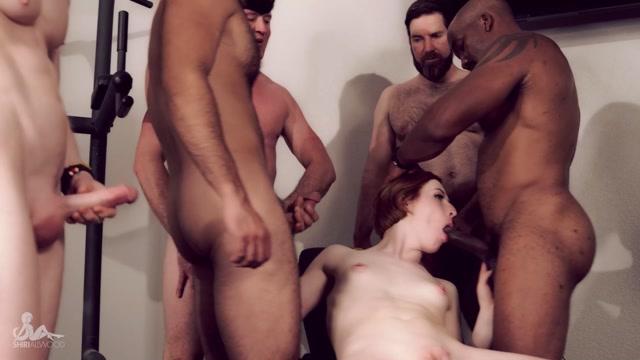 Shiri Allwood - Shiris First Gangbang Gym Slut Takes 5 00014