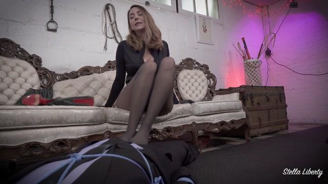 Stella Liberty - Bambi Cum in Pants Footjob - Fetish 00013