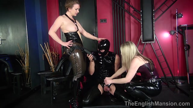 The English Mansion - Mistress Sidonia and Mistress T - Strapon Cock Bitch - Part 1 - Oral Servitude 00013