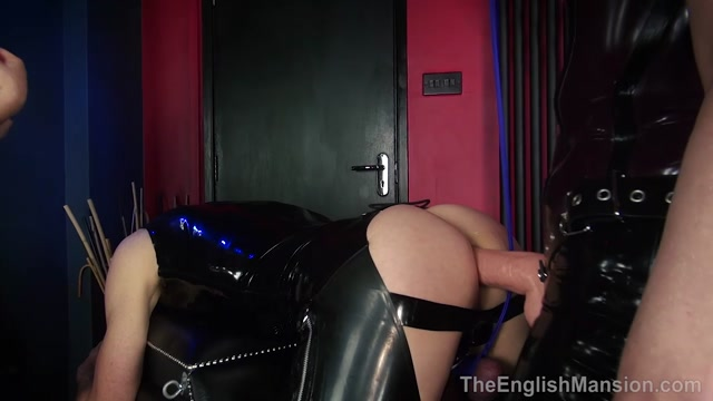 The English Mansion - Mistress Sidonia and Mistress T - Strapon Cock Bitch - Part 2 00010
