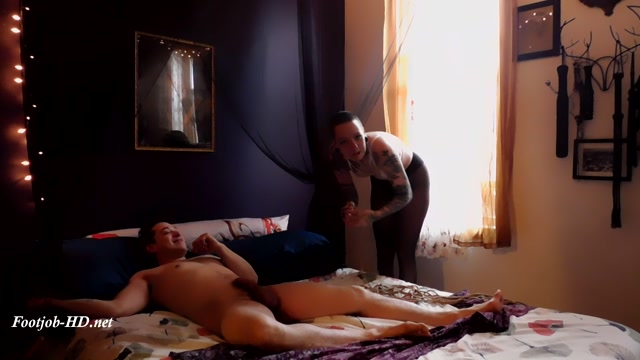 Tickle wresting with Footjob and cum - Miss Justine Marie 00004