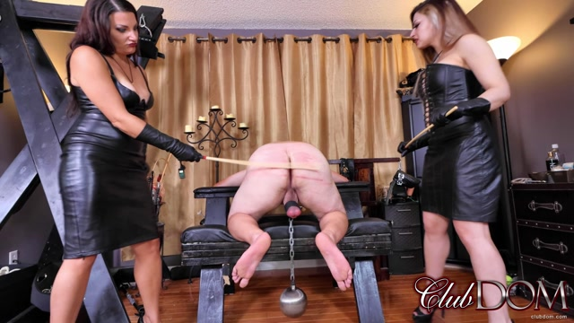 ClubDom - Isobel and Michelle Caning Perp - Femdom 00006