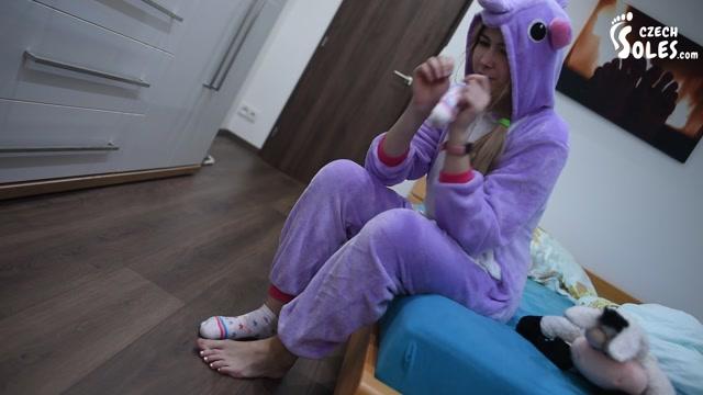 Czech Soles - Cosplay BIG teen feet teasing POV 00002