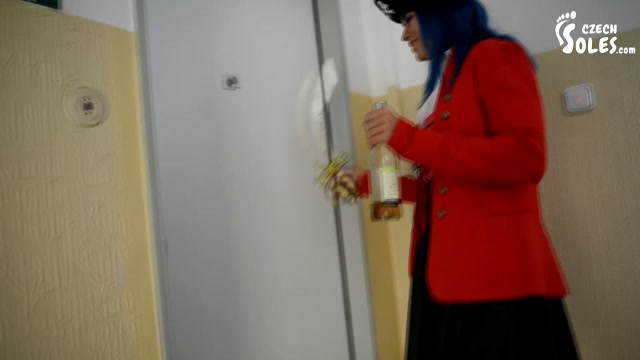Czech Soles - Drunk pirate girl foot worship on Halloween 00000