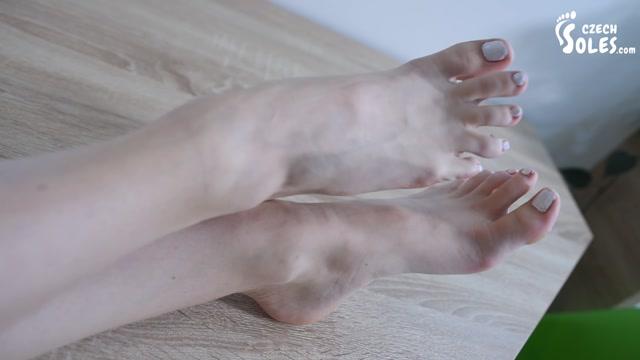Czech Soles - New teen model Foxy and her high heels teasing 00006