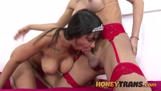 HoneyTrans presents Nataly Souza & Natalia Nazzario Busty Latina Milf Gets Ass Used By Horny Transsexual – 30.08.2021 00007
