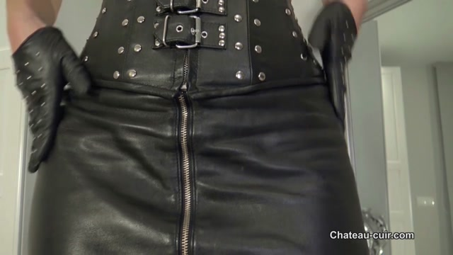 Kinky Leather Clips - Fetish Liza - Intense Leather and Aroma JOI 00004