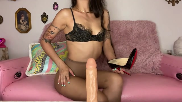 misswhip - Girlfriend Gives Pantyhose Footjob 00003