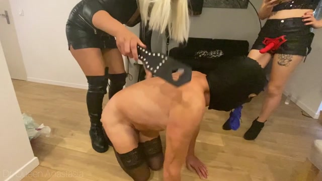 Bad Anastasia - Condom Juice for this Cuckold - Triple Domme 00007