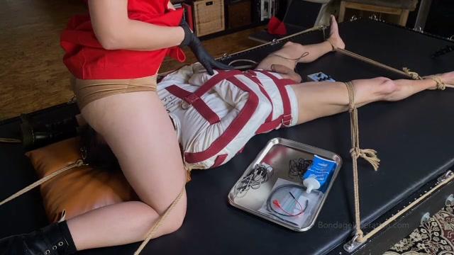 Bondage Liberation - Part One - Horny Nurse Elise Uses Restraints Electro Torment 00012