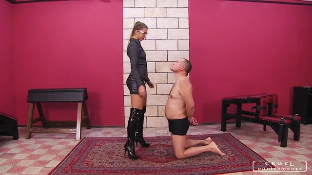 Cruel Punishments - Severe Femdom - Humilating spits and slaps 00000