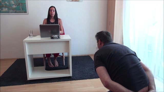 EUROFEMDOM ELITE REA  The Office Clown  Your Face As My Footstool 00015