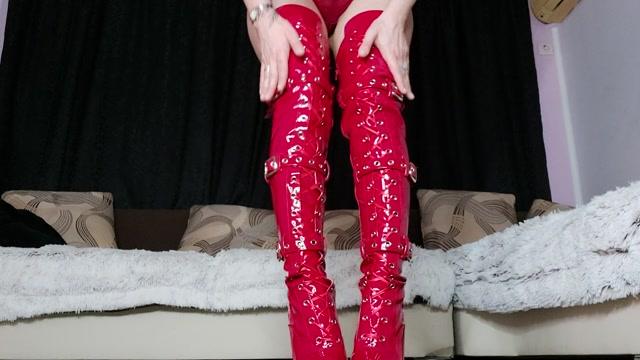 Findom Teodora - Sniff For New Red Boots – MONEY GODDESSS 00002