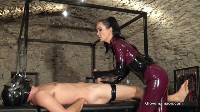 Glovemansion - Edged and milked by latex Mistress part 1 00011