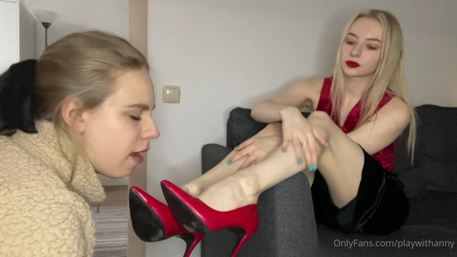 Goddess Anny - She Couldn't Put My Shoes On The First Time. How Do We Punish Her For This 00006