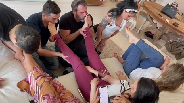 Goddess Grazi - FEET ORGY - The best fucking feet party you ll ever see 00004