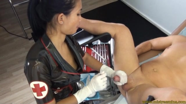 Hand Job with a metal sound in the cock – ASIAN MISTRESS NINA 00011