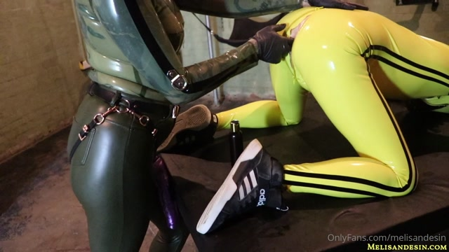 Miss Melisande Sin - Rubber-prisoner addicted to my cock 00005
