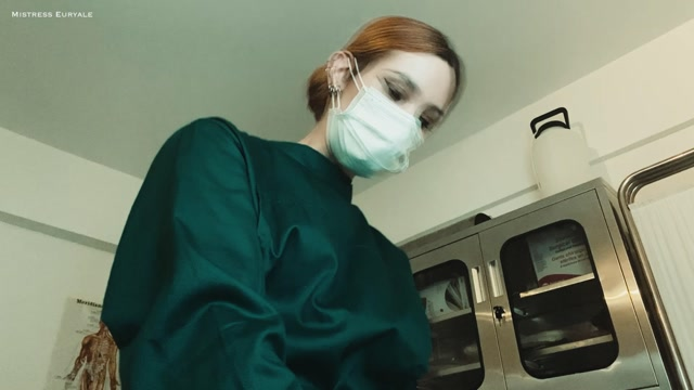 Mistress Euryale - Testicles Removal Surgery and Stitching on a Respirator 00008