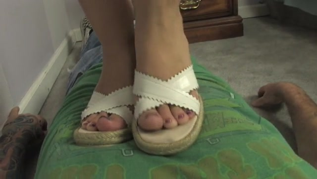 Mistress Kat tramples ladiesfloor with sexy wedge sandals – HEADUNDERHEELS 00004