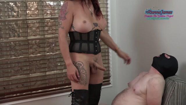 Ts Rianna James mistress rianna uses slaves mouth 00007
