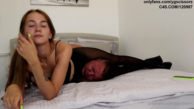 Young Mistress - Black Heels And Black Pantyhose Cruelty 00007