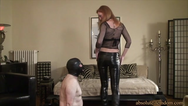 Absolute Femdom - Roxanne Leather Pants Tease and Face Slapping 00015