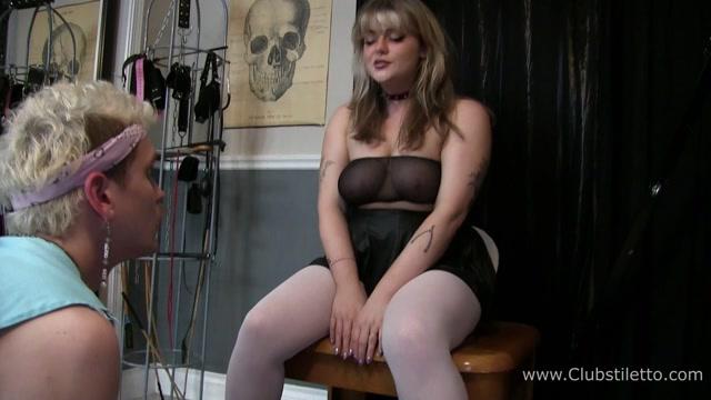 Club Stiletto FemDom – Bambi enslaves Her Step-Bro, My human Toilet 00007