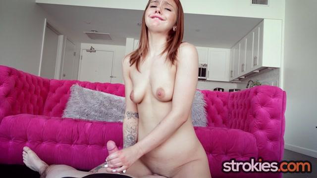 Fiery Teen Mia Kay Sparks Your Desire for Redheaded Strokers - Strokies - HandJob 00010