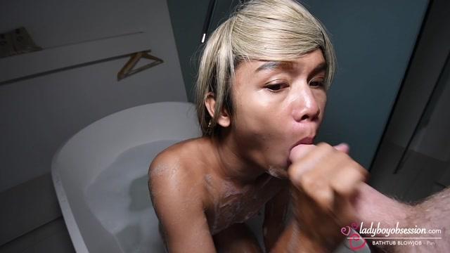 LadyboyObsession presents Pan 3 Nubile Bathtub Blowjob – 05.10.2021 00003