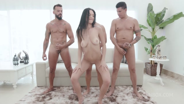 LegalPorno presents Hot Latina Gabriela Andrade doing dp with 3 big cocks and swallows their loads – 19.10.2021 00003