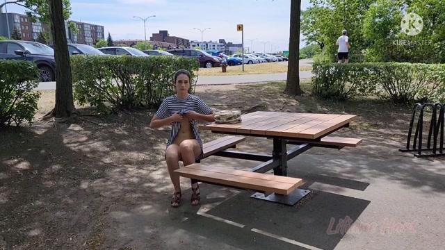 Liliane Hart - Public Path Naked Dildo Fuck Part 2 00001