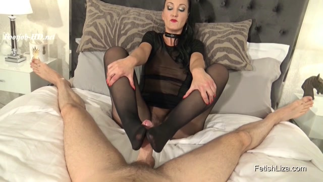 Made To Cum By My Nyloned Feet - Fetish Liza - FootJob 00013