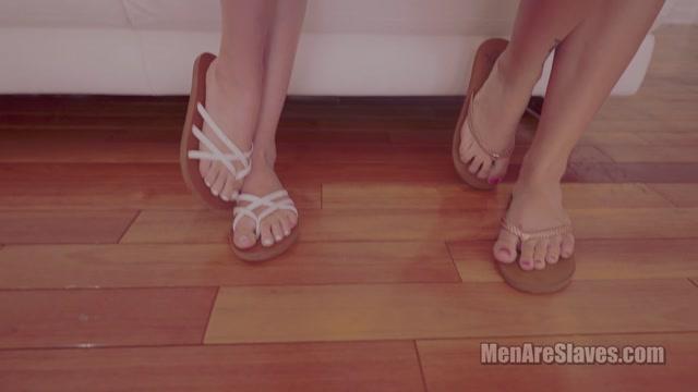 Men Are Slaves - Paris White, Leda Lotharia - Teeny Weeny Linguini 00008