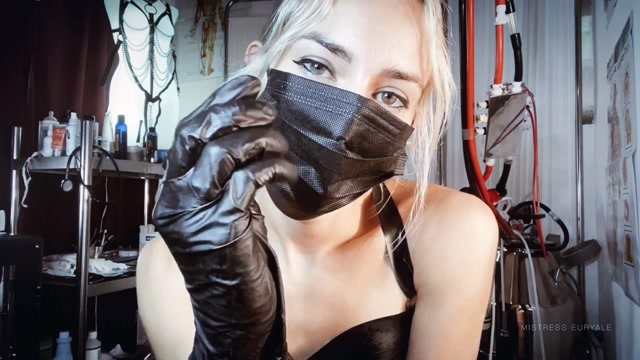 Mistress Euryale - Black Latex Glove Fetish JOI 00003