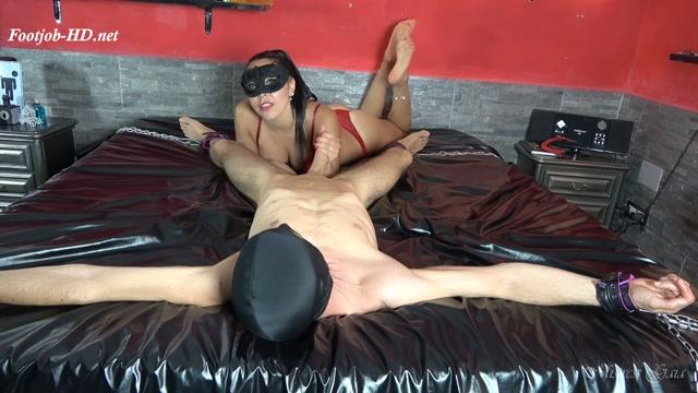 Mistress Gaia - Red On Black Orgasm - FootJob 00004
