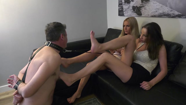 TATJANA amp ABBIE CAT  Wanna try my slave  EXTREME Foot gagging REAL STORY 00006